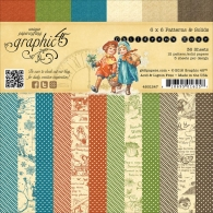 Набор бумаги Graphic 45 Children's Hour, Prints & Solids 15х15 см 36 л (818695016257)