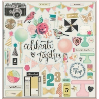 Чипборд от Crate Paper - Maggie Holmes Confetti Gold Foiled - Accents W/Gold Foil