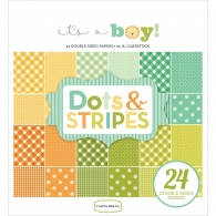 Набор бумаги Carta Bella It's A Boy Dots & Stripes 15х15 см (83832236915)