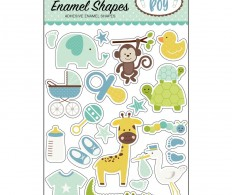Эмалевые украшения Sweet Baby Boy Enamel Shapes