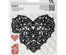 Нож для вырубки Xcut Decorative Die Floral Filigree Heart