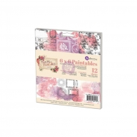 Набор бумаги 15х15см Prima Marketing Paintables Watercolor Paper Pad - Tales Of You & Me