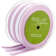 Лента от May Arts - Horizontal Striped Grosgrain - Orchid