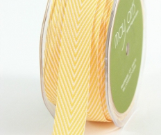 Лента May Arts Twill Chevron Stripe Ribbon Yellow желтая (848208046884)