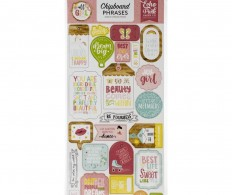 фото Чипборд All Girl Chipboard, Phrases