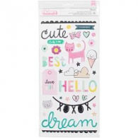 Объемные наклейки от Crate Paper - Cute Girl Thickers Stickers - Adorable/Puffy (854196805075)