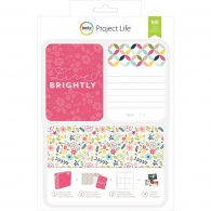Набор карточек Project Life Live Brightly 180 шт (380332)