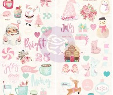 фото Чипборд Santa Baby Chipboard Stickers  W/Foil Accents