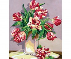 Канва ( страмин ) с рисунком - Collection D'Art Needlepoint Printed Tapestry - Wild Tulips