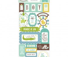 Чипборд Sweet Baby Boy Chipboard , Phrases