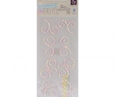 Самоклеющиеся жемчужины Hello Pastel Say It In Crystals , Mini Swirls 8 Pieces