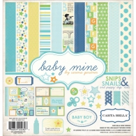 Набор бумаги от Carta Bella Collection Kit 30х30см - Baby Mine/Boy