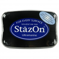 Сольвентные чернила от Imagine Crafts - StazOn Solvent Ink Pad - Ultramarine