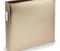 Альбом We R Classic Leather D-Ring Album 30х30 см, Gold