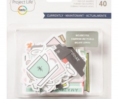 Высечки Project Life Ephemera Die-Cut Shapes , Currently W/Silver Foil