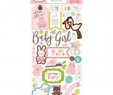 фото Чипборд Echo Park Chipboard Accents Sweet Baby, Girl