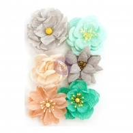 Набор цветов Zella Teal Flowers Made With Love от  Prima Marketing