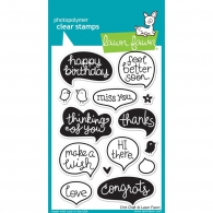 Набор штампов от Lawn Fawn Clear Stamps - Chit Chat (30915070157)