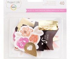 Набор высечек Project Life Ephemera Die-Cut Shapes , Fresh Edition W/Gold Foil