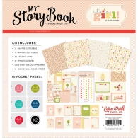 Набор для Project Life от Carta Bella My Story Book Pocket Page Kit - It's A Gir (83832237219)