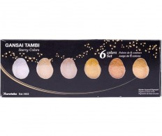 Набор японских красок Kuretake Gansai Tambi 6 Color Set Starry Colors