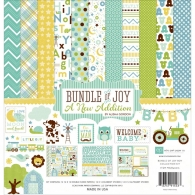 Набор бумаги 30 х 30см Bundle Of Joy/A New Addition - Baby Boy от Echo Park Collection Kit