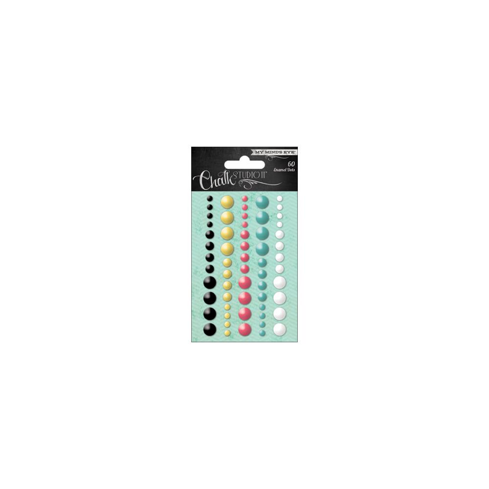Декоративные точки My Minds Eye Chalk Studio 2 Adhesive Enamel Dots 60 шт (CS3020)
