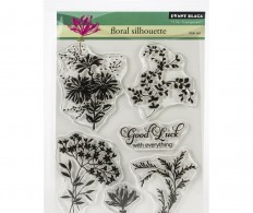 фото Штамп Penny Black Clear Stamps Floral Silhouette