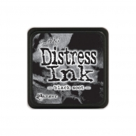 Подушечка с чернилами Tim Holtz Distress Mini Ink Pad - Black Soot