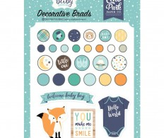 фото Брадсы Echo Park Hello Baby Boy Decorative Brads