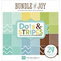 Набор бумаги Echo Park Bundle Of Joy/A New Addition Baby Boy Двусторонний 15х15 см Dots & Stripes Paper (718122971091)