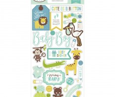 фото Чипборд Sweet Baby Boy Chipboard,  Accents
