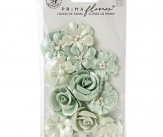 фото Набор цветов для скрапа Prima Marketing Mulberry Paper Flowers Minty Basil/Apricot Honey