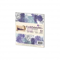 Набор бумаги 15х15см Prima Marketing Paintables Watercolor Paper Pad - French Riviera