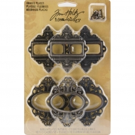 фото Набор рамочек от Tim Holtz - Idea-Ology Metal Ornate Plates (40861927870)