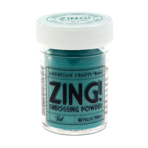 Пудра для эмбоссинга American Crafts Metallic Teal Zing! Embossing powder Teal (718813271653)