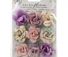 фото Набор цветов Prima Marketing Mulberry Paper Flowers Crescent Moon/Moon Child, 9шт
