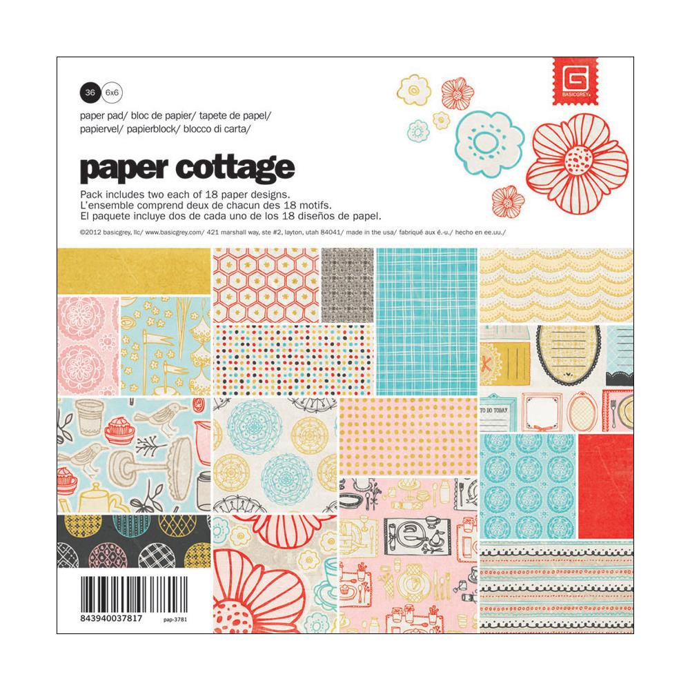 Набор бумаги Basic Grey Paper Cottage Paper Pad 6 (PAP3781)