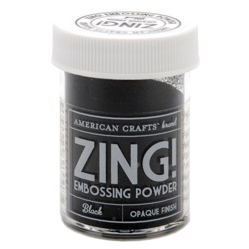 Пудра для эмбосинга American Crafts Zing Opaque Embossing Черная (718813271134)