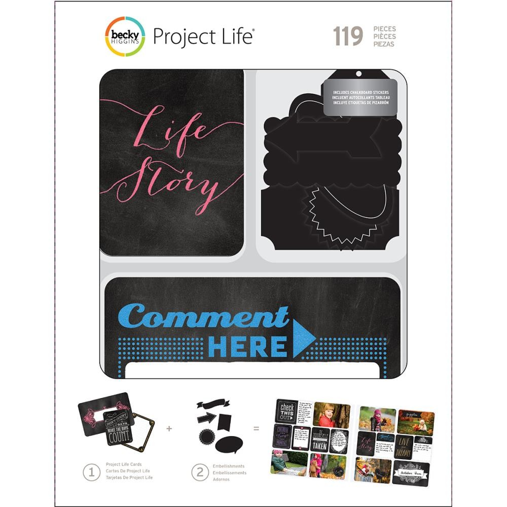 Набор карточек Project Life , Chalk W/Chalkboard Stickers