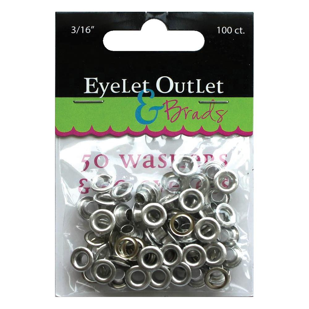 фото Набор люверсов 4,7мм - Eyelet Outlet Eyelets & Washers (810787022771)