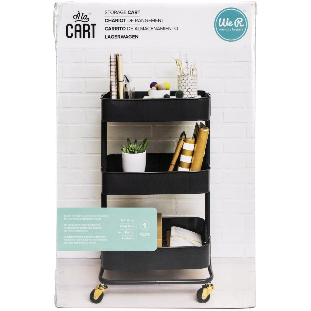 фото Этажерка на колесиках для хранения We R A La Cart Storage Cart Burnt Ash