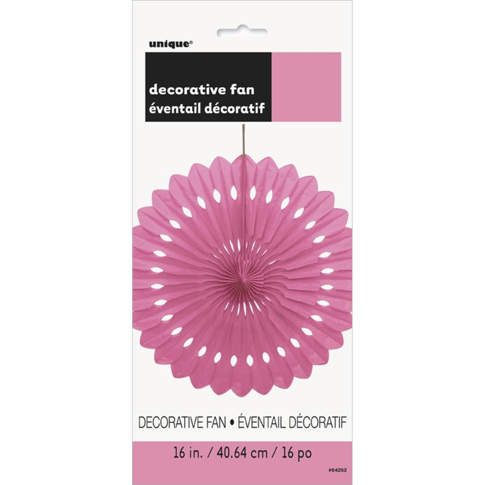 Фант для декора unique круг DECORATIVE FAN 40 см HOT PINK (11179642625)