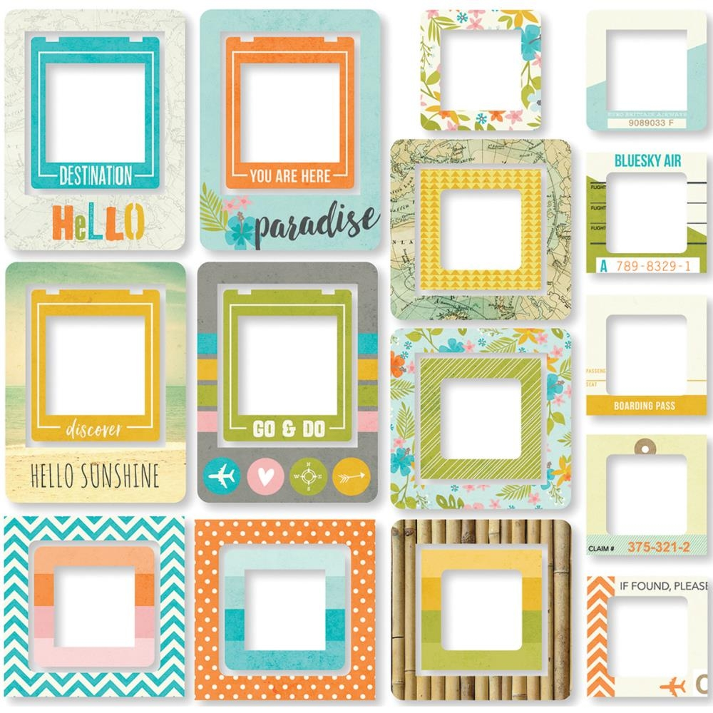 Чипборд Simple Stories Рамки You Are Here! Chipboard Frames 24 шт (812247027999)