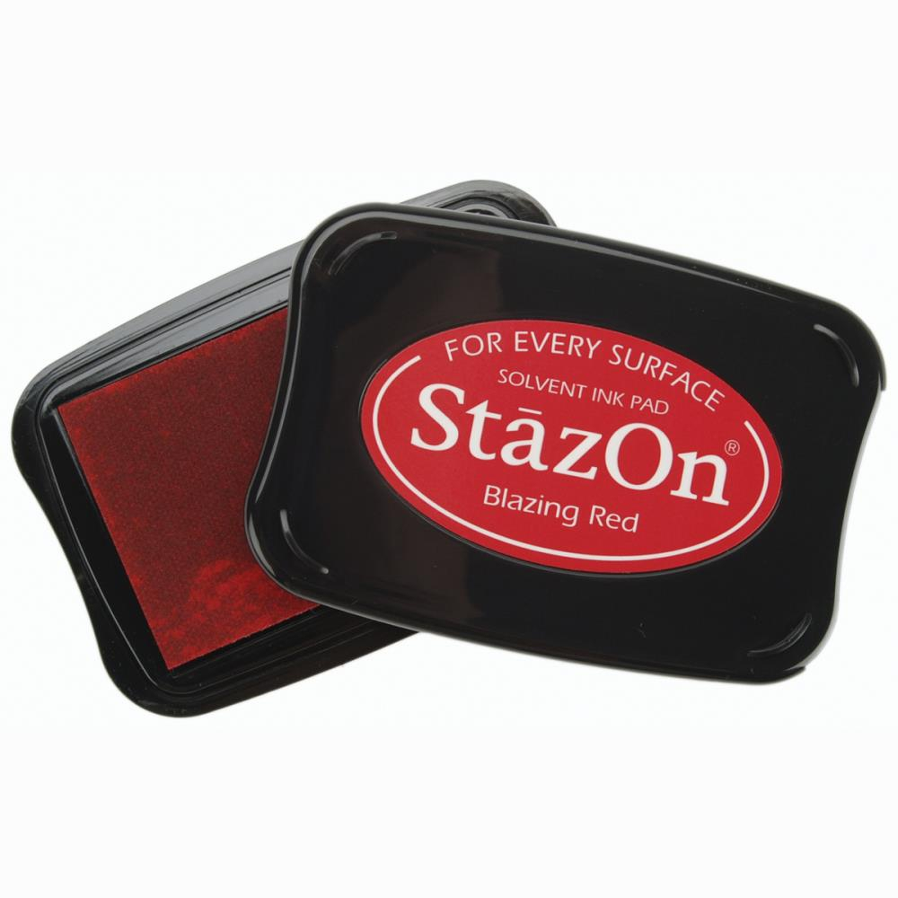 Сольвентные чернила от Imagine Crafts - StazOn Solvent Ink Pad - Blazing Red