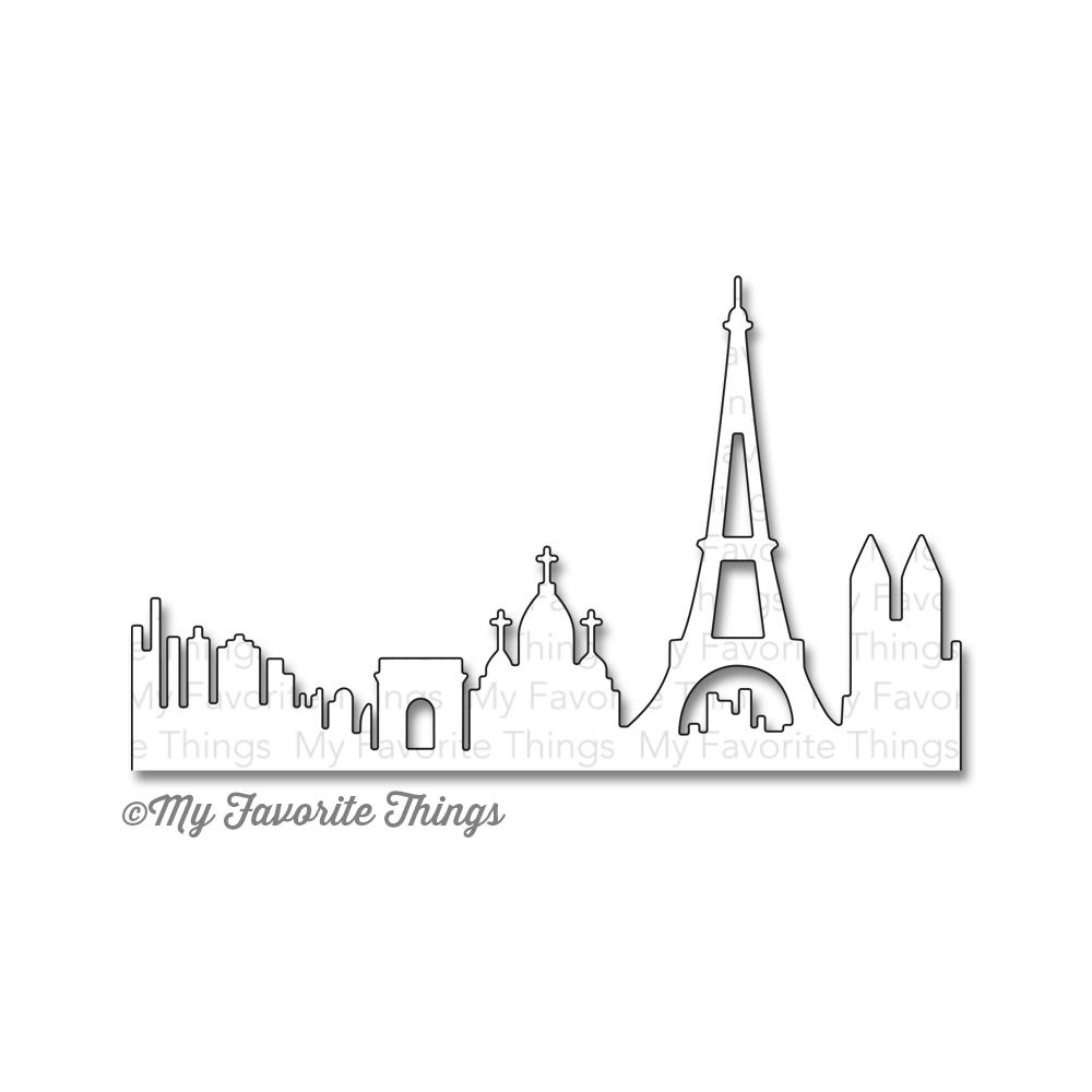 Ножи для вырубки My Favorite Things Paris Skyline (849923011027)
