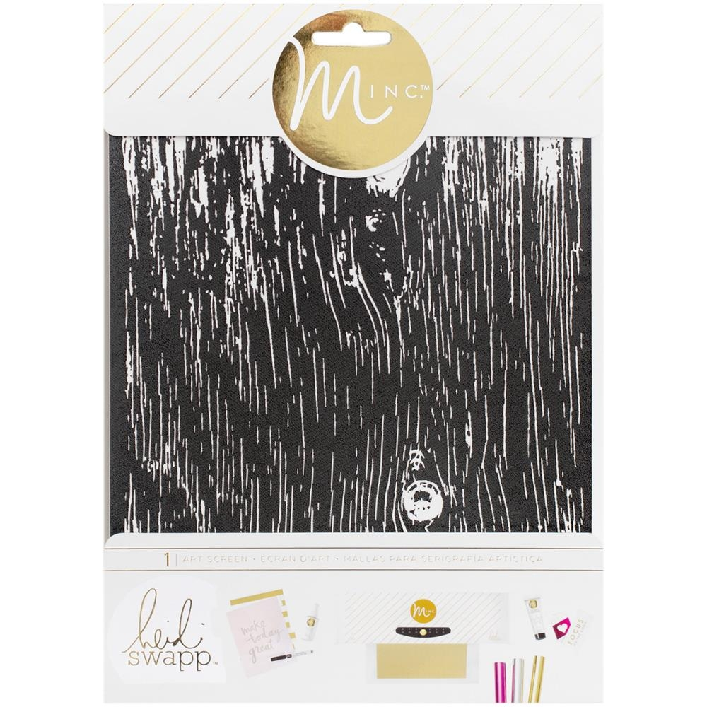 Трафарет для фольгирования Minc Art Screen 16,5х21,5см - Woodgrain