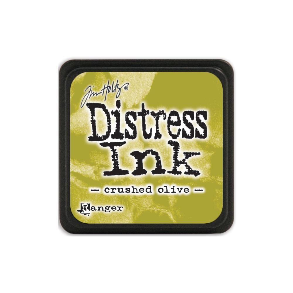 Подушечка с чернилами Ranger Tim Holtz Distress Mini Ink Pad 3х3 см Crushed Olive (789541039914)