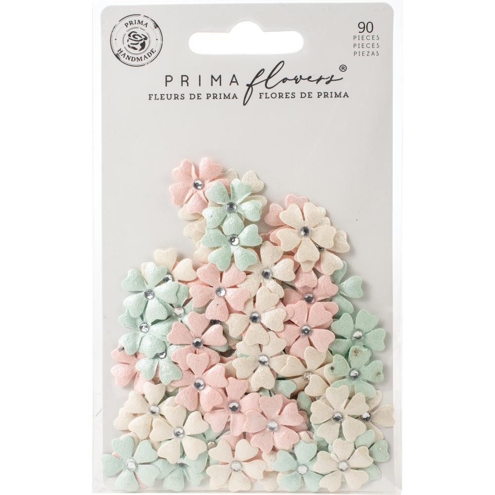 фото Цветы для скрапбукинга Prima Marketing Mulberry Paper Flowers Honey Sweet/Apricot Honey