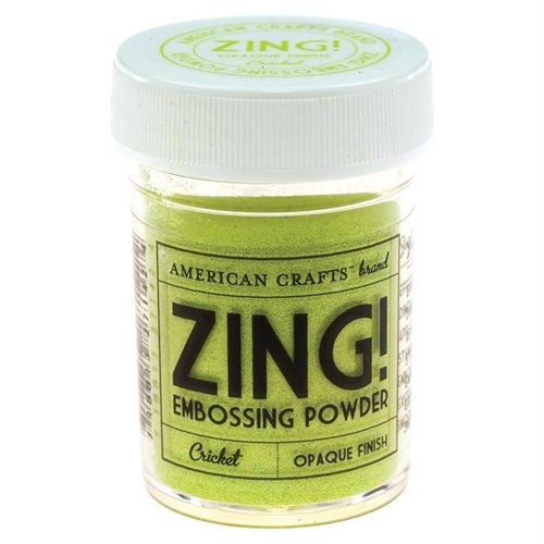 Пудра для эмбосинга American Crafts Zing Opaque Embossing Cricket (718813271424)